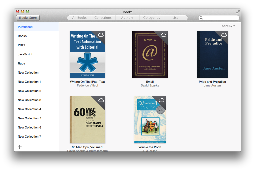 My many iBooks collections