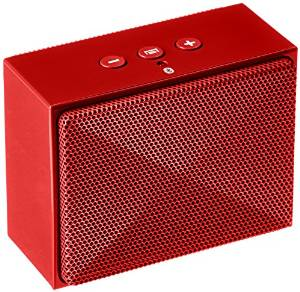 a red speaker